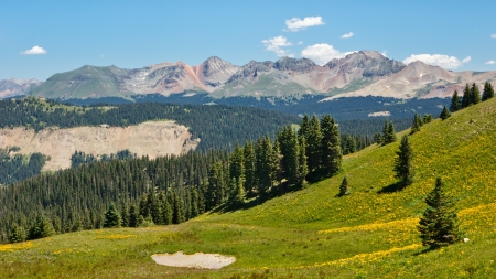 san juan: View of high alpine scenery in the San Juan Mountains along the Colorado Trail.