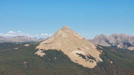 san juans: Engineer Mountain in the San Juan Mountains, Colorado.