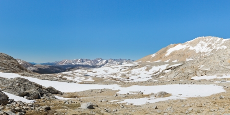High Sierra in Sequoia National Park on a beautiful summer day.