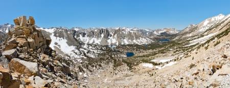 john muir trail: Kings Canyon National Park Panorama, Sierra Nevada, California, USA Stock Photo