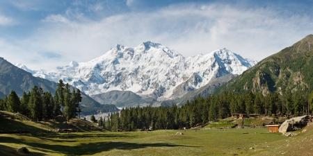 Nanga Parbat and Fairy Meadows Panorama, Himalaya, Pakistan