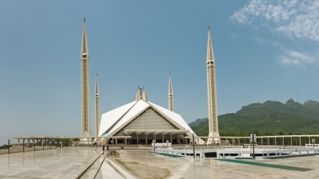The Faisal Mosque in Islamabad is the largest mosque in Pakistan and one of the largest ones in the world.