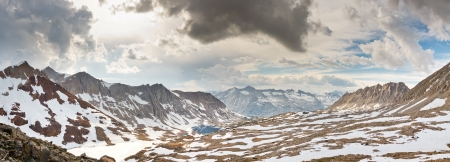 pacific crest trail: Kings Canyon Panorama at Pinchot Pass, Sierra Nevada, California, USA