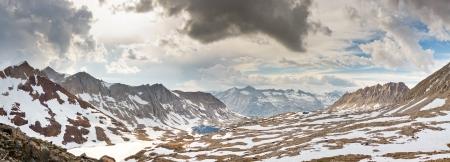 basin mountain: Kings Canyon Panorama at Pinchot Pass, Sierra Nevada, California, USA