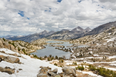 pacific crest trail: Selden Pass in the Sierra Nevada, California, USA