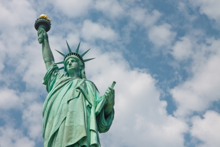 Welcome to New York City - The Statue of Liberty Stock Photo - 18681598