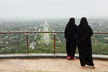 burqa: Muslim Women with Burqa in Islamabad, Pakistan.