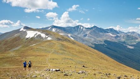 トレイル ランニング ロッキー山脈、コロラド州、アメリカ合衆国