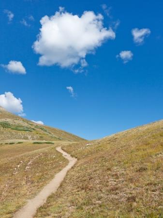 rocky mountains colorado: Trail up the Mountain in the Rocky Mountains, Colorado Stock Photo