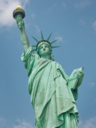 Welcome to America - The Statue of Liberty in New York photo