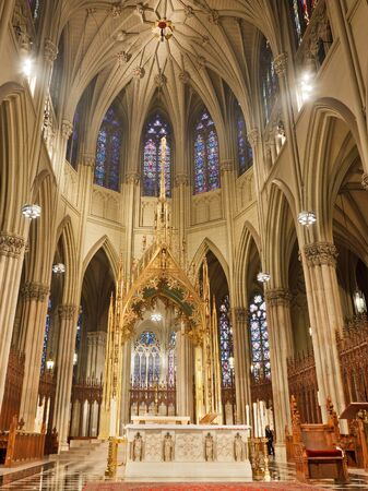 catholic mass: St. Patrick Cathedral in New York City, USA. Editorial