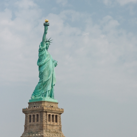 Welcome to the Land of the Free - The Statue of Liberty in New York photo
