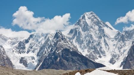 Gasherbrum IV is one of the most esthetic peaks in the Karakorum Mountains in Northern Paksitan. Stock Photo - 19408371