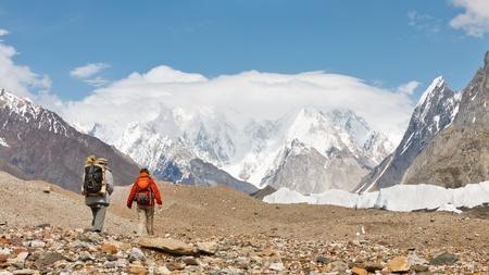 himalaya: Karakorum Trekking Tour. Approaching the eight-thousander mountains of the Karakorum Range in Pakistan.