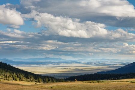 colorado landscape: Colorado Landscape with Dramatic Sky near the Continental Divide