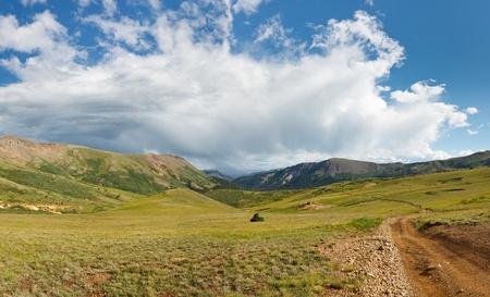 rocky mountains colorado: Storm system moving away in the Rocky Mountains, Colorado.