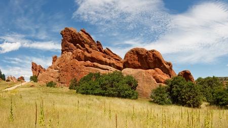 colorado state: Sandstone formation in Roxborough State Park near Denver, Colorado.