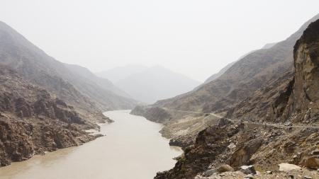 pakistan: Karakorum Highway and Indus River in Northern Pakistan