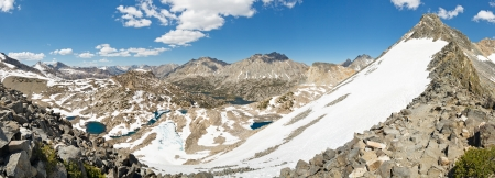 Sierra Nevada Panorama from Glen Pass, California, USA Stock Photo - 19580284