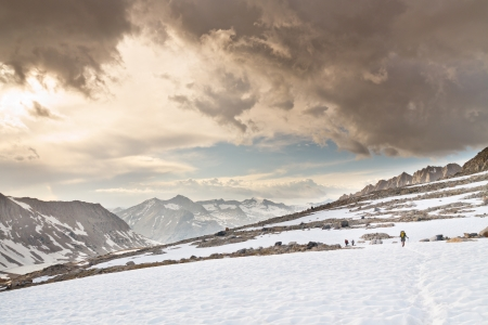 Hiking Adventure in the Sierra Nevada, California, USA Stock Photo