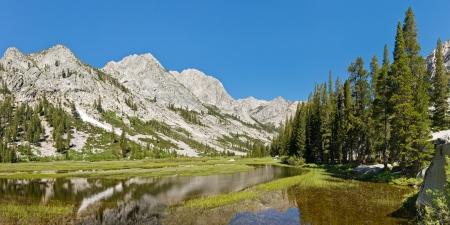 Kings River Panorama in the Sierra Nevada, California, USA