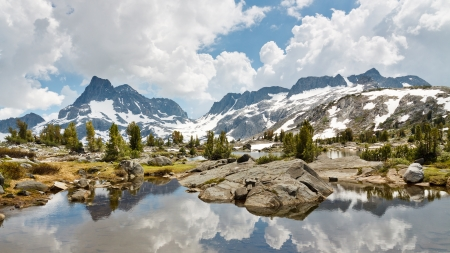Ansel Adams Wilderness Alpine Lakes Scenery, Sierra Nevada, California, USA Stock Photo - 19580293