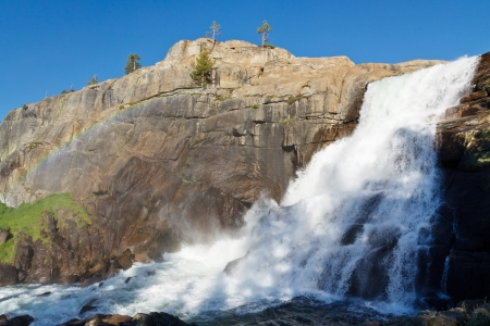 pacific crest trail: Tuolumne Falls in Yosemite National Park, Sierra Nevada, California, USA Stock Photo