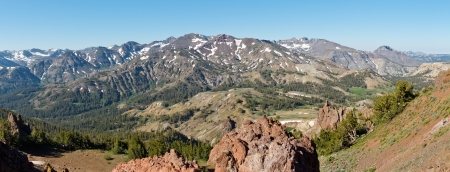 Sierra Nevada Panorama at Sonora Pass, California, USA Stock Photo - 19580291