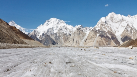 Broad Peak and Vigne Glacier in the Karakorum Range, Pakistan