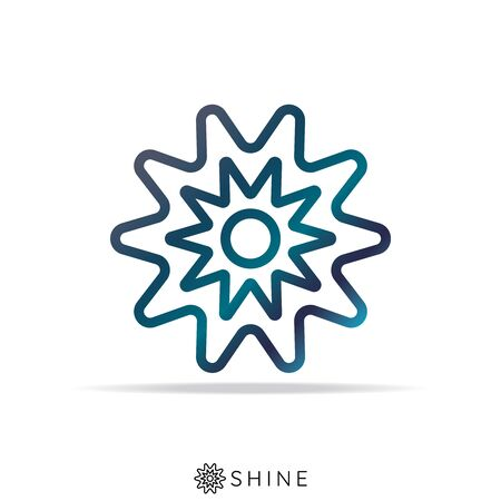 Abstract sun star icon. shine star concept. vector illustration.