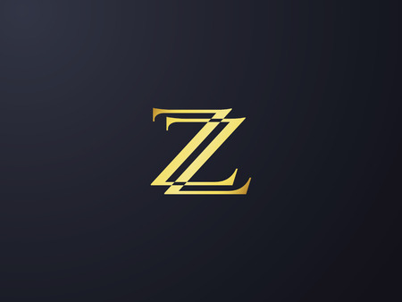 Initial letter Z icon template. Alphabet symbol for corporate business identity, vector illustration. Illustration