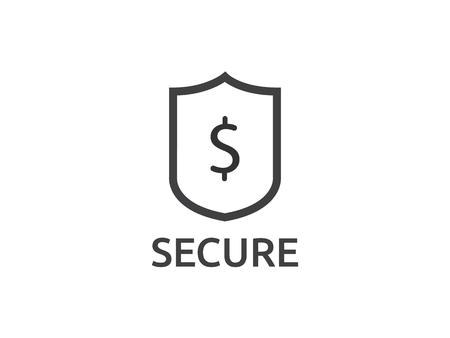 Dollar shield icon. money Security protection symbol Concept vector illustration