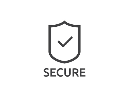 check shield icon symbol. Secure Protection Concept vector illustration