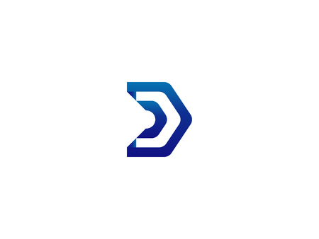 Letter D Logo. architecture door house template Vector illustration  イラスト・ベクター素材
