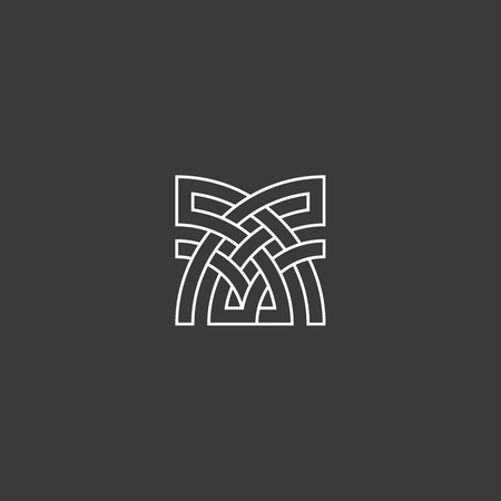 Abstract Cross Element For Architecture Or Business Logo Symbol