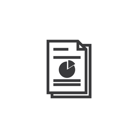 Spreadsheet document paper outline icon, isolated note paper icon in thin line style for graphic and web design. Simple flat symbol pixel perfect vector illustration. Vectores