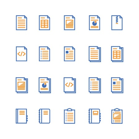 Document and notebook outline icon. isolated checklist paper icon in thin line style for graphic and web design. Simple flat symbol Pixel Perfect vector Illustration.