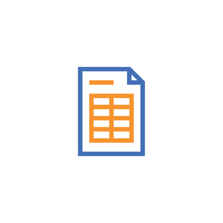 spreadsheet document paper outline icon. isolated note paper icon in thin line style for graphic and web design. Simple flat symbol Pixel Perfect vector Illustration. Vectores
