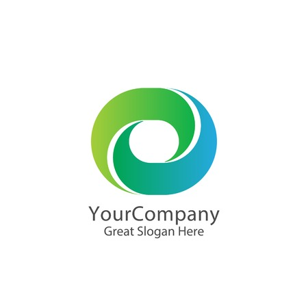 corporate business finance logo. square loop letter O logo. nature concept digital, apps and technology service thing. symbol template Vector illustration.