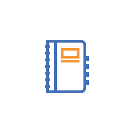 notebook outline icon. isolated document paper note icon in thin line style for graphic and web design. Simple flat symbol Pixel Perfect vector Illustration.  イラスト・ベクター素材