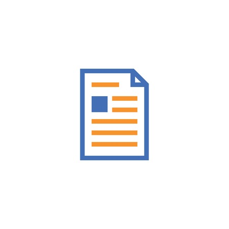 Document paper outline icon, isolated note paper icon in thin line style for graphic and web design.