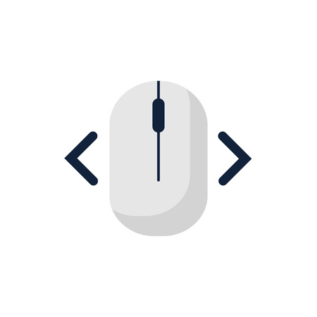 click right left computer mouse icon symbol. Flat style design. Vector illustration.