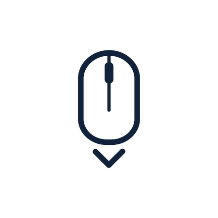 Scroll down up computer mouse icon symbol. Flat style design. Vector illustration. Ilustracja