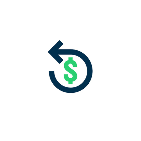 Refund money icon. Chargeback contour sign. quick fund cash back symbol. Currency exchange refinance. Return on investment. stock market business. Vector line illustration.