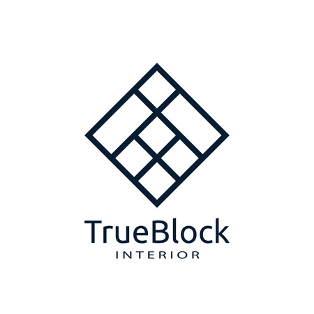 tile wall logo icon for carpet, floor, ceramic industry. hexagon square abstract symbol. minimal sign concept design template vector illustration