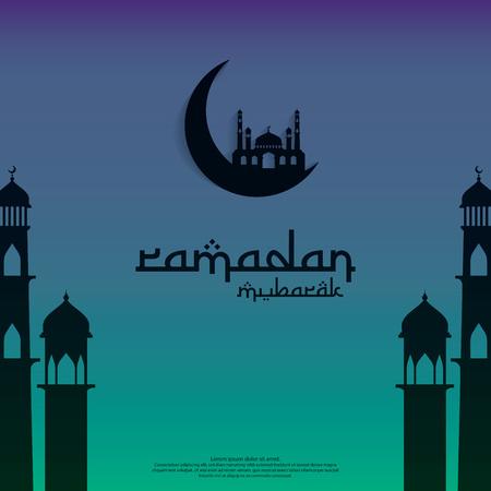 islamic design concept. Ramadan Kareem or Eid Mubarak invitation Banner or Card Background greeting. abstract mandala with arabic pattern, mosque ornament and lantern element. Vector illustration.