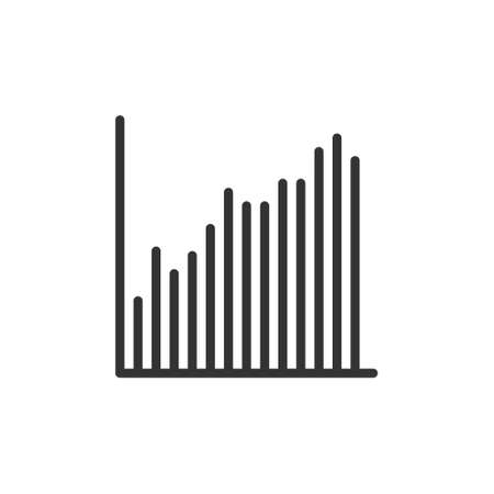 increase chart graph Icon. Business investment growing up symbol vector illustration