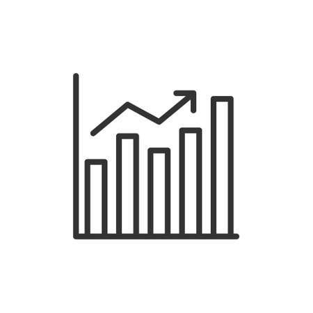 increase chart graph Icon. Business investment growing up symbol vector illustration 免版税图像 - 151612214