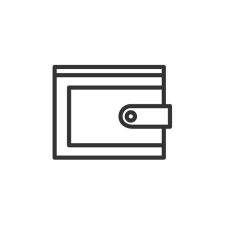 wallet icon with line style vector illustration