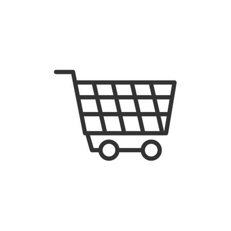 wheel trolly icon with line style vector illustration Ilustracja